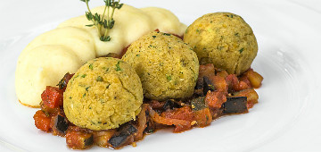 mozart dinner vegetarian menu main dish